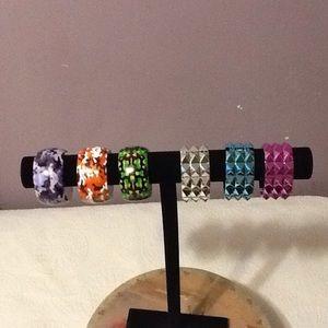 6 assorted costume bracelets